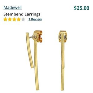 Madewell stembend earrings brand new gold